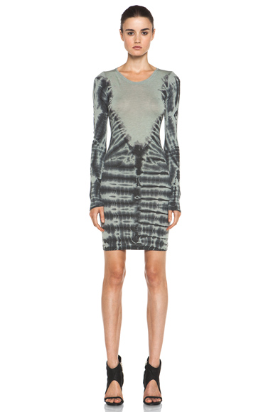 RAQUEL ALLEGRA | Layering Long Sleeve Dress in Eucalyptus