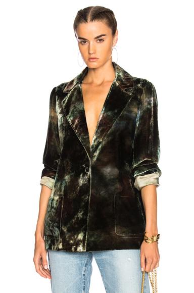 Raquel Allegra Classic Blazer in Green, Ombre & Tie Dye