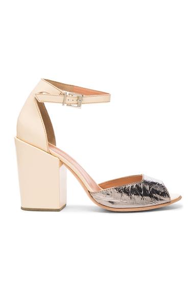 Rachel Comey Leather Coppa Sandals in Neutrals, Metallics