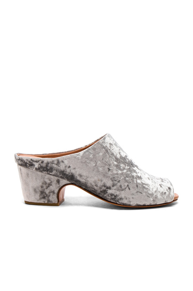 Rachel Comey Velvet Foster Slides in Gray, Metallics