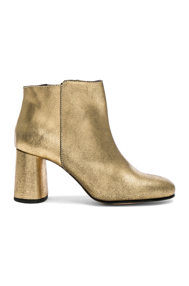 Rachel Comey Distressed Leather Lin Boots in Metallics