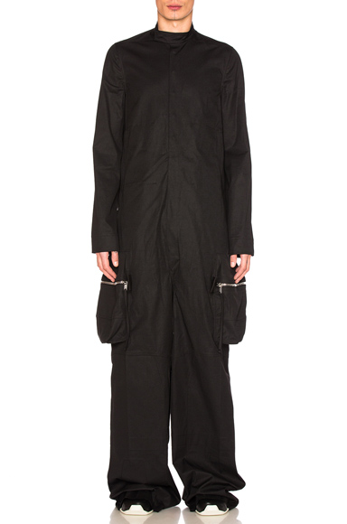 Rick Owens Long Sleeve Megacargo Bodybag in Black. - size 46 (also in 48,50)
