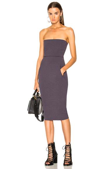 Rick Owens Bustier Dress in Purple