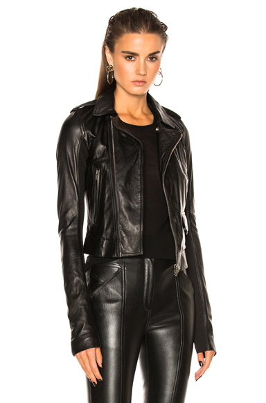 Rick Owens Classic Stooges Biker Jacket in Black
