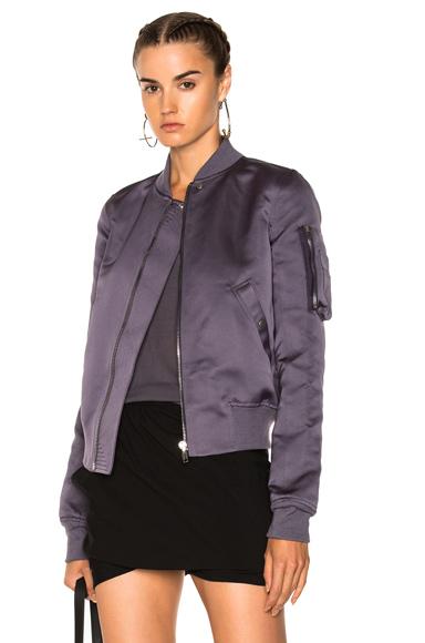 Rick Owens Flight Bomber Jacket in Purple