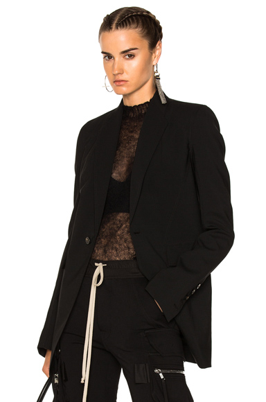 Rick Owens Faun Blazer Jacket in Black