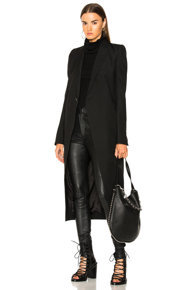 Rick Owens Knife Coat in Black