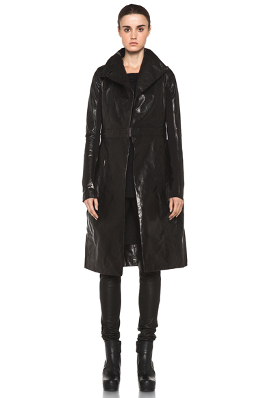RICK OWENS | Salon Coat in Black