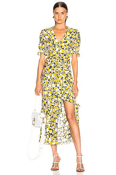 RIXO | RIXO Drew Dress In Yellow. - Size XS (Also In S) | Goxip