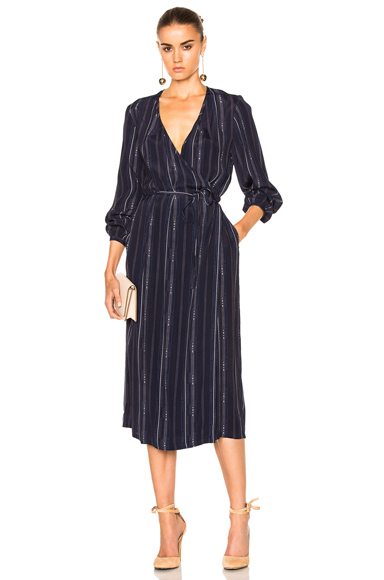 Rodebjer Lu bumble Dress in Blue, Stripes