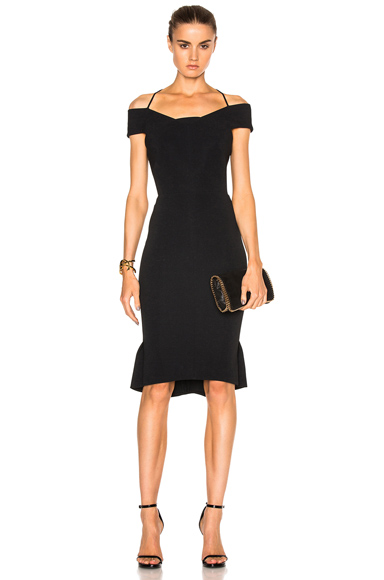 Roland Mouret Beatrix Stretch Viscose Dress in Black
