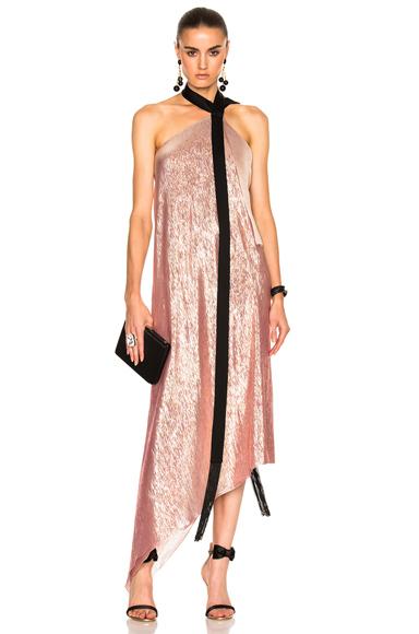 Roland Mouret Copernicus Dress in Metallics, Pink