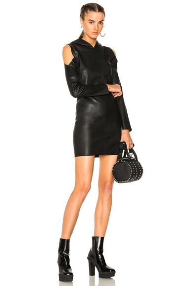 RtA Grace Leather Dress in Black