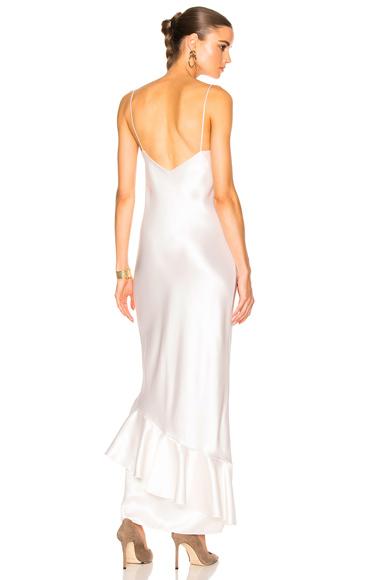 Ryan Roche Slip Dress in Metallics, White
