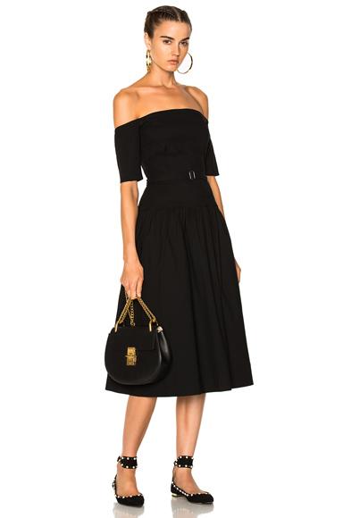 Sea Strapless Midi Dress in Black