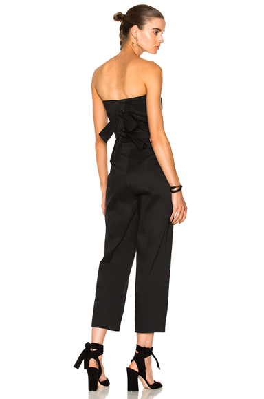 Sea Tuxedo Jumpsuit in Black