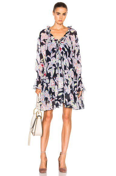 See By Chloe Print Dress in Floral, Blue
