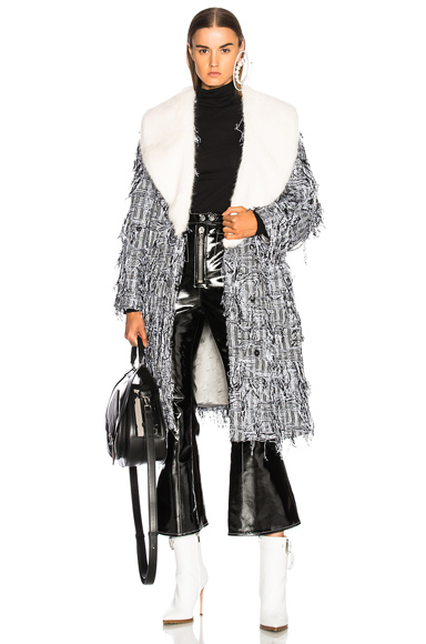 Shrimps Elspeth Coat in Abstract, Black, White