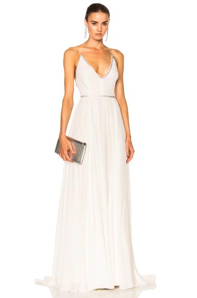 Saint Laurent Georgette Dress in White