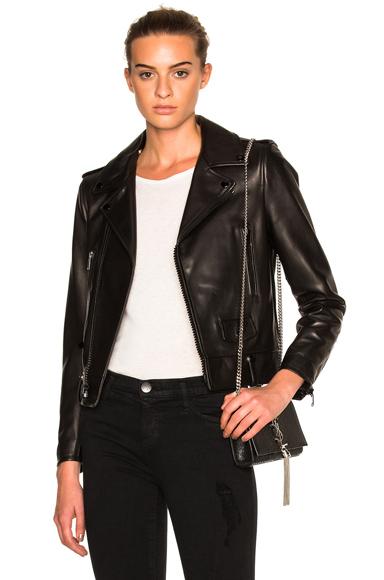 Saint Laurent Classic Motorcycle Jacket in Black