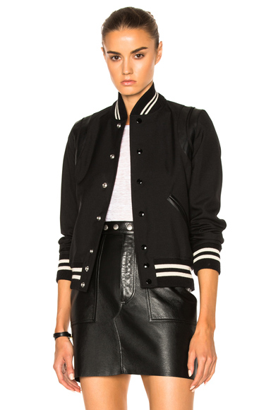 Photo of Saint Laurent Teddy Femme in Black online womens jacket sales