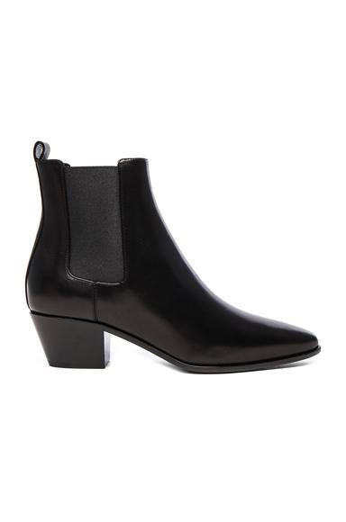 Saint Laurent Rock Leather Chelsea Boots in Black