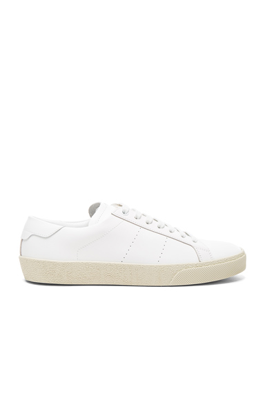 Saint Laurent Court Classic Leather Sneakers in White