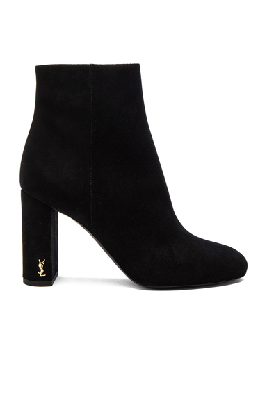 Saint Laurent Loulou Suede Boots in Black