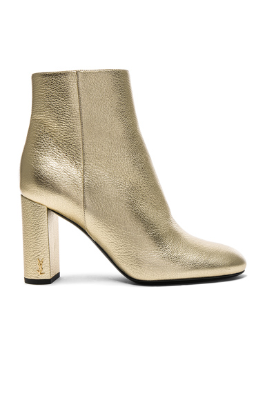 Saint Laurent Leather Loulou Boots in Metallics