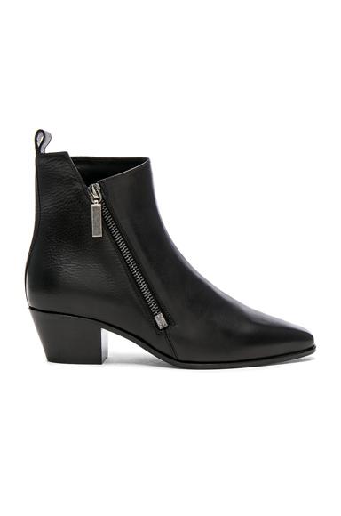 Saint Laurent Leather Rock Zip Boots in Black
