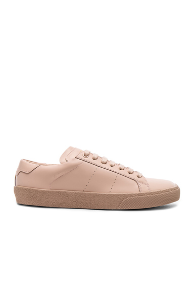 Saint Laurent Leather Court Classic Sneakers in Pink
