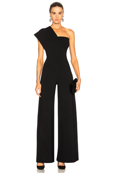 Stella McCartney One Shoulder Jumpsuit in Black
