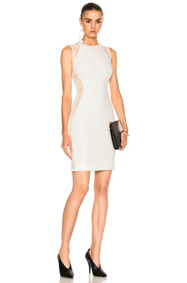 Photo of Stella McCartney Stretch Cady Sleeveless Dress in White online womens dresses sales