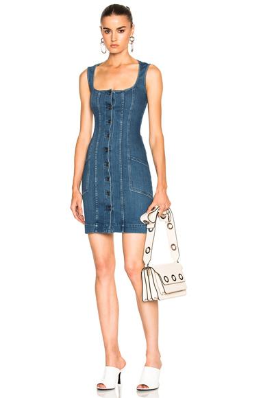 Stella McCartney Super Stretch Denim Dress in Blue