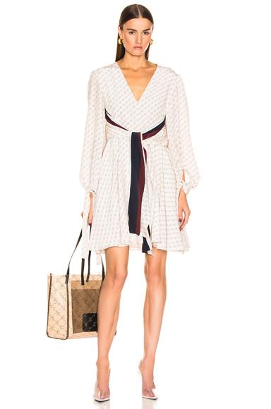 STELLA MCCARTNEY   Stella McCartney Long Sleeve Mini Dress In Abstract,Neutral. - Size 40 (Also In 34,36,38)   Goxip