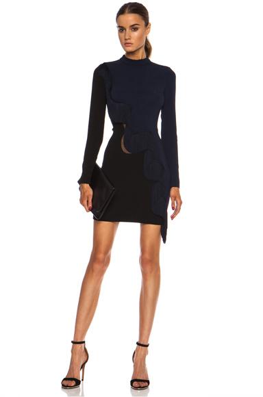 STELLA MCCARTNEY   Alba Stretch Rayon-Blend Cady Dress in Indigo