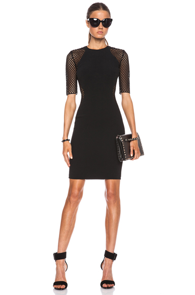 STELLA MCCARTNEY | Mesh April Illuision Dress in Black