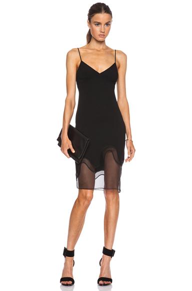 STELLA MCCARTNEY   Emelia Stretch Cady Dress in Black