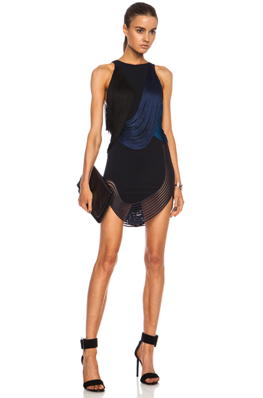 STELLA MCCARTNEY | Hadley Stretch Cady Rayon-Blend Dress in Midnight