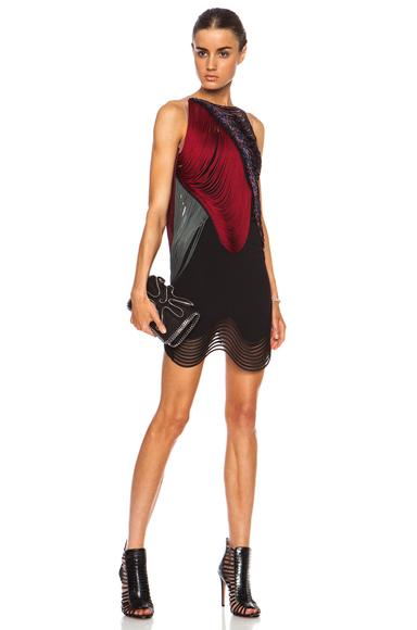 STELLA MCCARTNEY | Michelle Stretch Cady Rayon-Blend Dress in Black