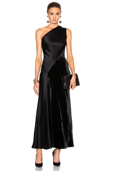 Stella McCartney Double Satin Dress in Black