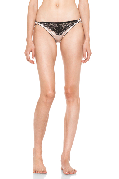 STELLA MCCARTNEY | Lingerie Bonnie Sizzling Bikini in Black & Nude Pink