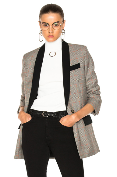Stella McCartney Vicky Jacket in Black, Checkered & Plaid