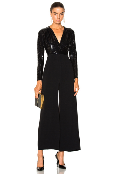 Stella McCartney Rosie Sequin Top Jumpsuit in Black