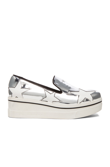 Stella McCartney Binx Star Platform Shoes in Metallics