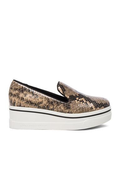 Stella McCartney Binx Platform Loafers in Animal Print, Brown