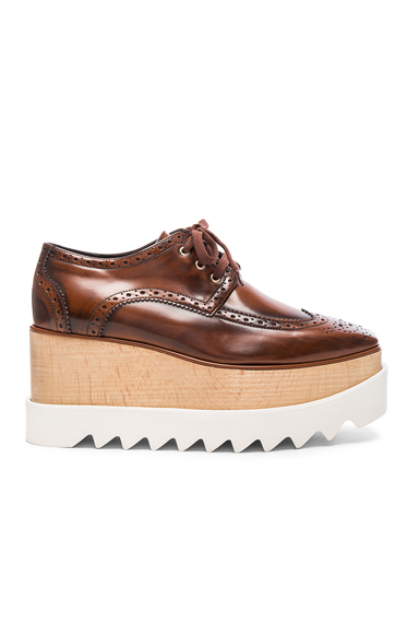 Stella McCartney Elyse Platform Shoes in Brown