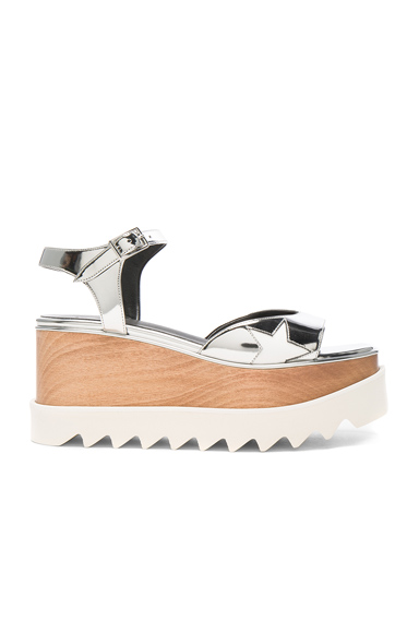 Stella McCartney Platform Sandals in Metallics