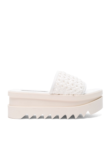 Stella McCartney Platform Slides in White