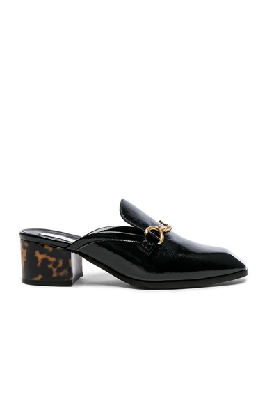 Stella McCartney Chain Detail Loafers in Black, Animal Print